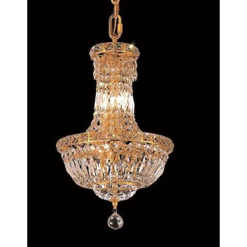 Elegant Lighting Gold 12-inch Royal-cut Crystal Clear Hanging 6-light Chandelier