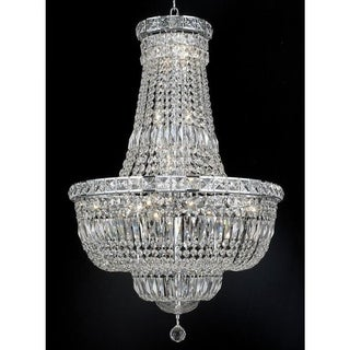 Elegant Lighting Chrome 22-inch Royal-cut Crystal Clear Hanging Chandelier