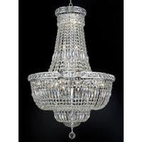 Elegant Lighting Chrome 22-inch Royal-cut Crystal Clear Hanging Chandelier