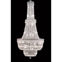 Elegant Lighting Chrome 28-inch Royal-cut Crystal Clear Large Hanging Chandelier