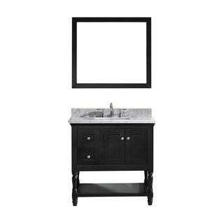 Virtu USA Julianna  36-inch Single Bathroom Vanity Cabinet Set in Espresso