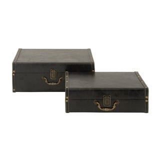 Simple Chic Wood Leather Case (Set of 2)