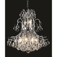 Elegant Lighting Chrome 19-inch Royal-cut Crystal Clear Hanging 10-light Chandelier