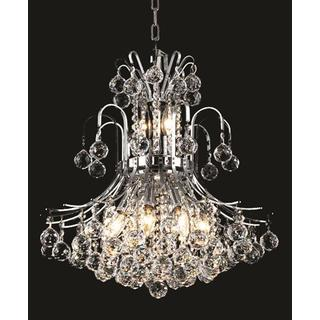 Elegant Lighting Chrome 19-inch Royal-cut Crystal Clear Hanging 10-light Chandelier