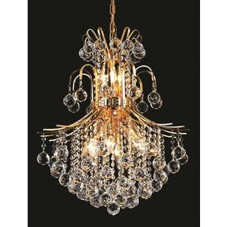Elegant Lighting Gold Royal-cut 22-inch Crystal Clear Hanging 11-light Chandelier
