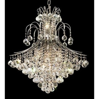 Elegant Lighting Chrome 25-inch Royal-cut Crystal Clear Hanging 15-light Chandelier