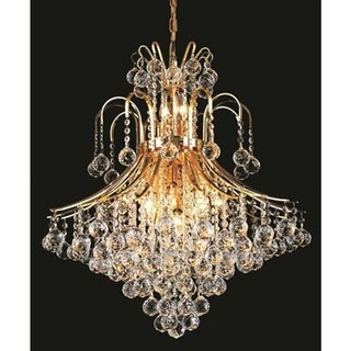 Link to Elegant Lighting Gold 25-inch Royal-cut Crystal Clear Hanging 15-light Chandelier Similar Items in Chandeliers
