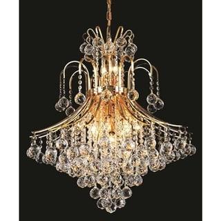 Elegant Lighting Gold 25-inch Royal-cut Crystal Clear Hanging 15-light Chandelier