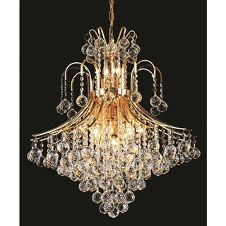 Elegant Lighting Gold 25-inch Royal-cut Crystal Clear Hanging 15-light Chandelier