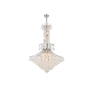 Elegant Lighting Chrome 35-inch Royal-cut Crystal Clear Large Hanging 16-light Chandelier