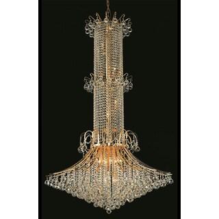 Elegant Lighting Gold 44-inch Royal-cut Crystal Clear Large Hanging 20-light Chandelier