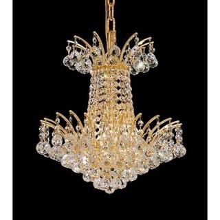 Elegant Lighting Gold 16-inch Royal-cut Crystal Clear Hanging 4-light Chandelier