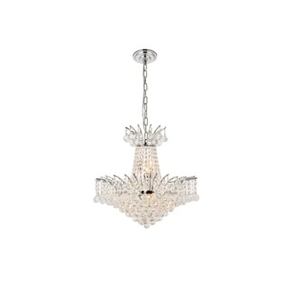 Elegant Lighting Chrome 19-inch Royal-cut Crystal Clear Hanging 8-light Chandelier