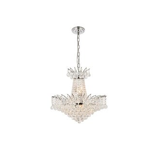 Elegant Lighting Chrome 19-inch Royal-cut Crystal Clear Hanging 8-light Chandelier & Elegant Lighting Ceiling Lights For Less | Overstock.com azcodes.com