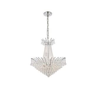 Elegant Lighting Chrome 24-inch Royal-cut Crystal Clear Hanging 11-light Chandelier