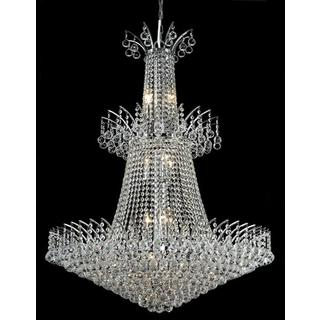 Elegant Lighting Chrome 32-inch Royal-cut Crystal Clear Large Hanging 18-light Chandelier