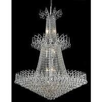 Elegant Lighting Chrome 32-inch Royal-cut Crystal Clear Large Hanging 18-light Chandelier