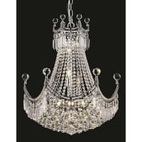 Elegant Lighting Chrome 20-inch Royal-cut Crystal Clear Hanging 9-light Chandelier