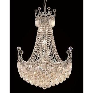 Elegant Lighting Chrome 24-inch Royal-cut Crystal Clear Hanging 18-light Chandelier