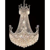 Elegant Lighting Chrome 24-inch Royal-cut Crystal Clear Hanging 18-light Chandelier
