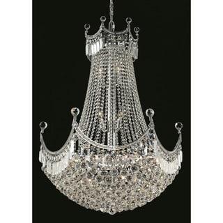 Elegant Lighting Chrome 30-inch Royal-cut Crystal Clear Hanging Chandelier