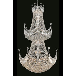 Elegant Lighting Chrome Royal-cut Crystal Clear 36-inch Large Hanging Chandelier
