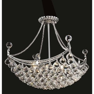 Elegant Lighting Chrome 20 Inch Royal Cut Crystal Clear Hanging 8 Light Chandelier