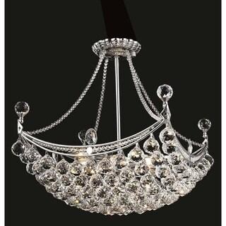 Elegant Lighting Chrome 20-inch Royal-cut Crystal Clear Hanging 8-light Chandelier