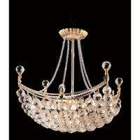 Elegant Lighting Gold 20-inch Royal-cut Crystal Clear Hanging 8-light Chandelier