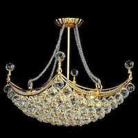 Elegant Lighting Gold 28-inch Royal-cut Crystal Clear Hanging 8-light Chandelier