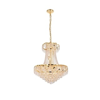 Elegant Lighting Gold 22-inch Royal-cut Crystal Clear Hanging 11-light Chandelier