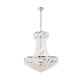 Elegant Lighting Chrome 26-inch Royal-cut Crystal Clear Hanging 15-light Chandelier