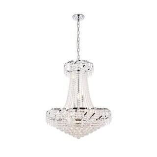 Elegant Lighting Chrome 26-inch Royal-cut Crystal Clear Hanging 15-light Chandelier