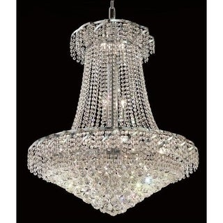 Elegant Lighting Chrome 30-inch Royal-cut Crystal Clear Hanging 18-light Chandelier