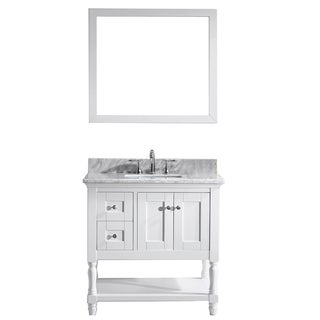 Virtu USA Julianna  36-inch Single Bathroom Vanity Cabinet Set in White