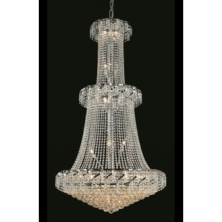 Elegant Lighting Chrome 36-inch Royal-cut Crystal Clear Large Hanging Chandelier