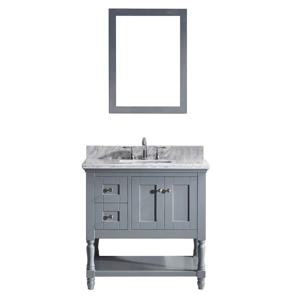 Virtu Usa Julianna 36 Inch Single Bathroom Vanity Cabinet Set In Grey Free Shipping Today