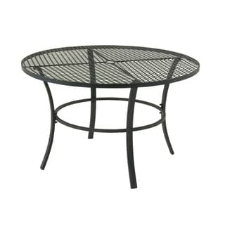 outdoor round black iron folding side table free shipping today 13261728. Black Bedroom Furniture Sets. Home Design Ideas