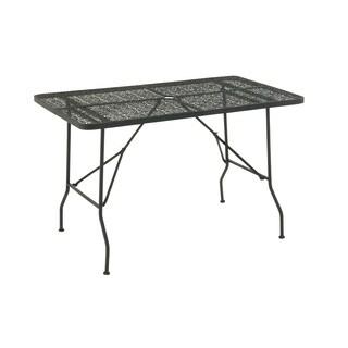 Metalwork Floral Design Folding Outdoor Table