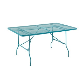 Contemporary Styled Metal Folding Outdoor Table