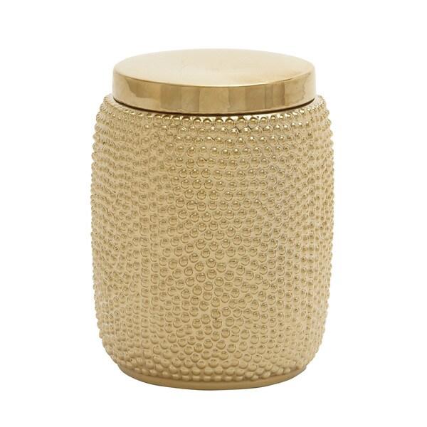 Artistic Ceramic Gold Jar