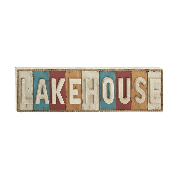 Wall Decor For Lake House : Lake house written wood rope wall decor free shipping