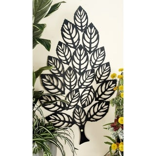 Wonderfully Styled Metal Leaf Wall Decor
