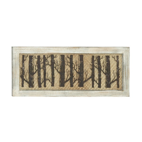 Forested Wood Metal Wall Decor