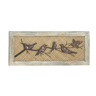 Birds Wood Metal Wall Decor
