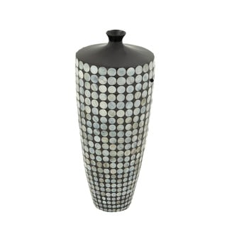Distinctive Ceramic Lacquer Inlay Vase