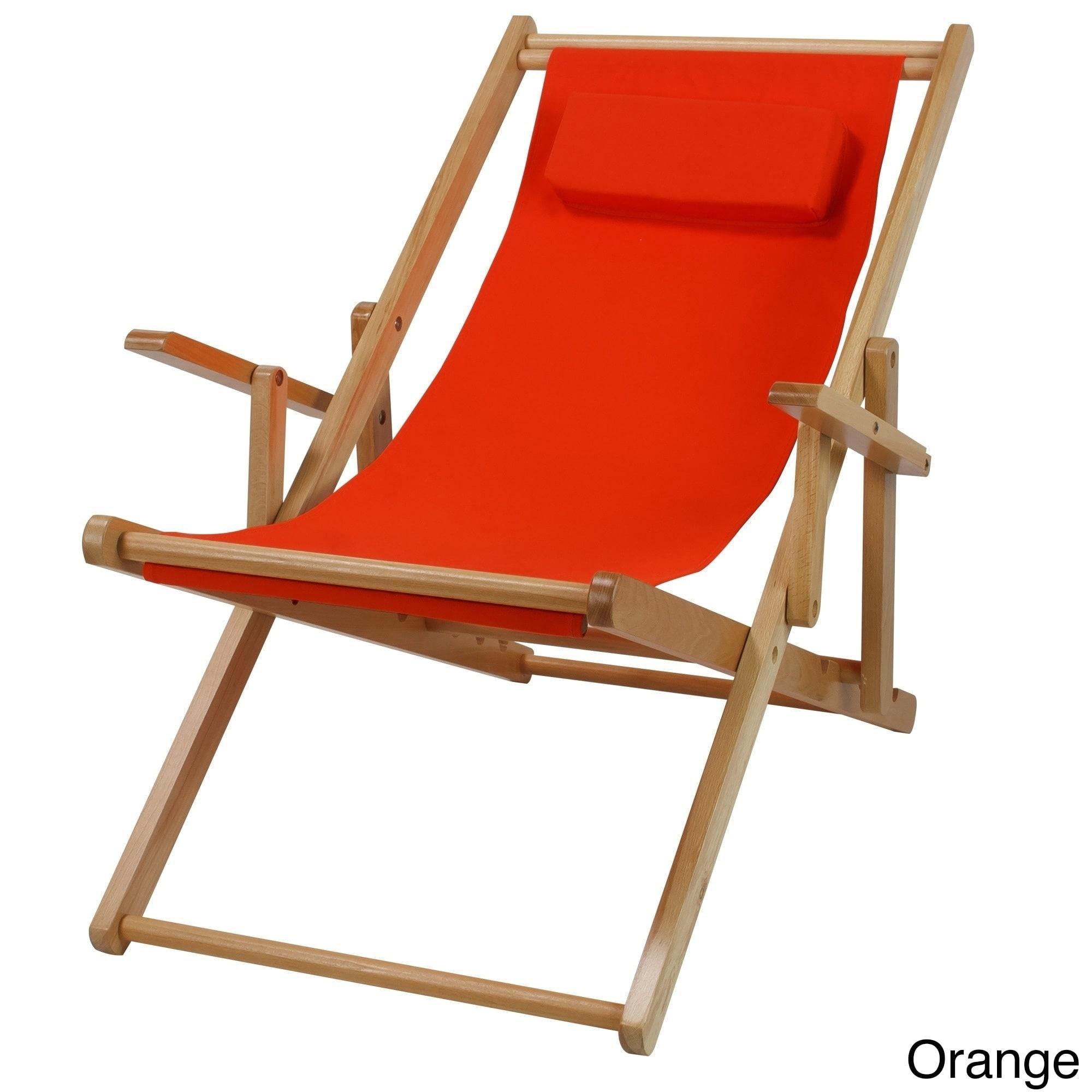 Canvas Patio Sling Chair (Orange), Size Single, Patio Fur...