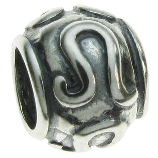 Queenberry Sterling Silver Round Leo Zodiac European Bead Charm