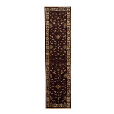 Handmade One-of-a-Kind Mahal Wool Rug (India) - 2'6 x 9'10