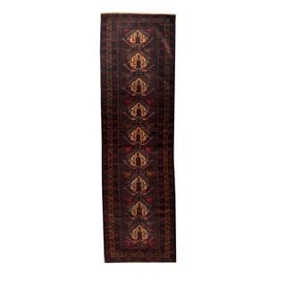 Herat Oriental Afghan Hand-knotted Tribal Balouchi Rust/ Navy Wool Rug (2'8 x 9'1)